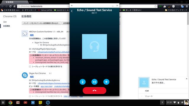SkypeForChrome-通話テスト