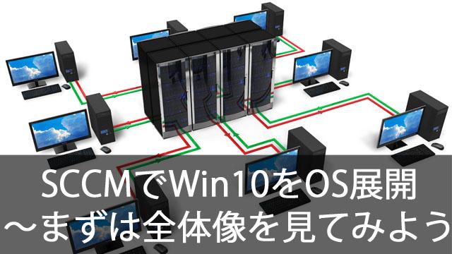 SCCMでWindows10をOS展開!~まずは全体像を把握しよう