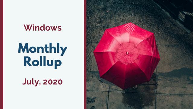 2020年7月の累積的な更新プログラムがリリース!Windows 10 1903/1909 KB4565483、Windows 10 2004 KB4565503 など