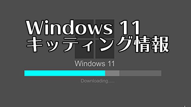 Windows 11キッティング情報